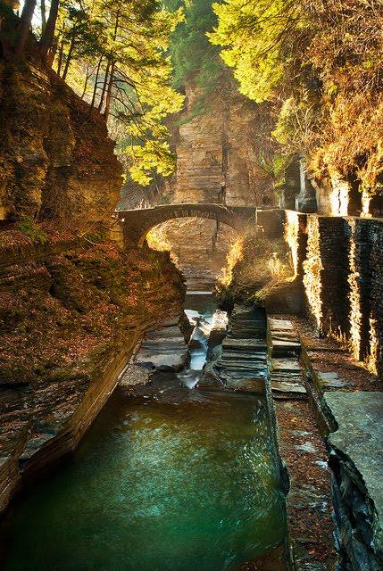Canyon Bridge, Newfield, New York